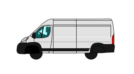 White Windowless Van Vector PNG (Free Download) by CrackerHumps