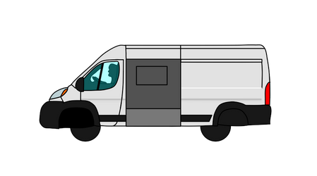 Van Open Door Vector PNG (Free download) by CrackerHumps
