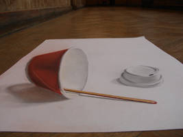 3D coffee cup by undercoversketch