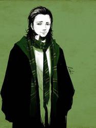 Loki in Slytherin by luthienelf