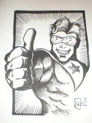 Booster Gold commision by CaptainSnikt