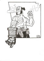 Hellboys day off by CaptainSnikt