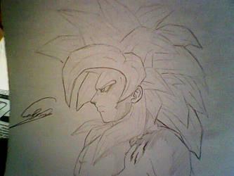 Goku SS4 by blacktaged