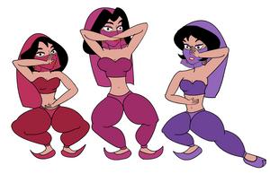 Aladdin Harem Girls finished version by danfrandes