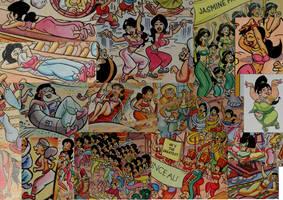 Aladdin Look and Find Harem collage by danfrandes
