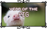 Year Of The Pig - Stamp by Starrtoon