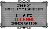 Anti-ILLEGAL Immigration - Stamp by Starrtoon