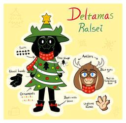 Deltamas - Ralsei Tree/Reindeer Reference by Starrceline