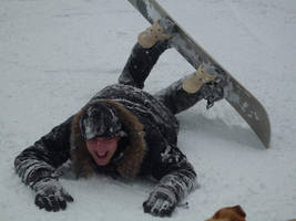Unlucky snowboarder by krzysiu-jarzyna