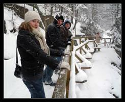 The snowy bridge by krzysiu-jarzyna