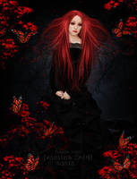 Red Sad Witch by JassysART