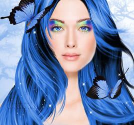 Rainbow Eyes by JassysART