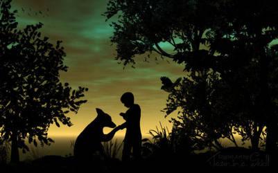My Best Friend Bello - Silhouette by JassysART