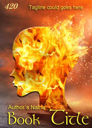 Premade eBook Cover 420 - Fire Head by JassysART
