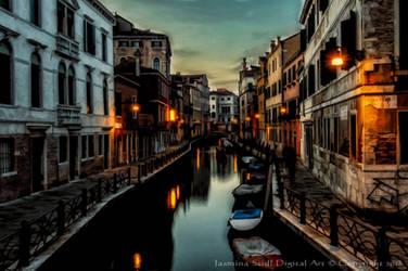 Venice By Night by JassysART