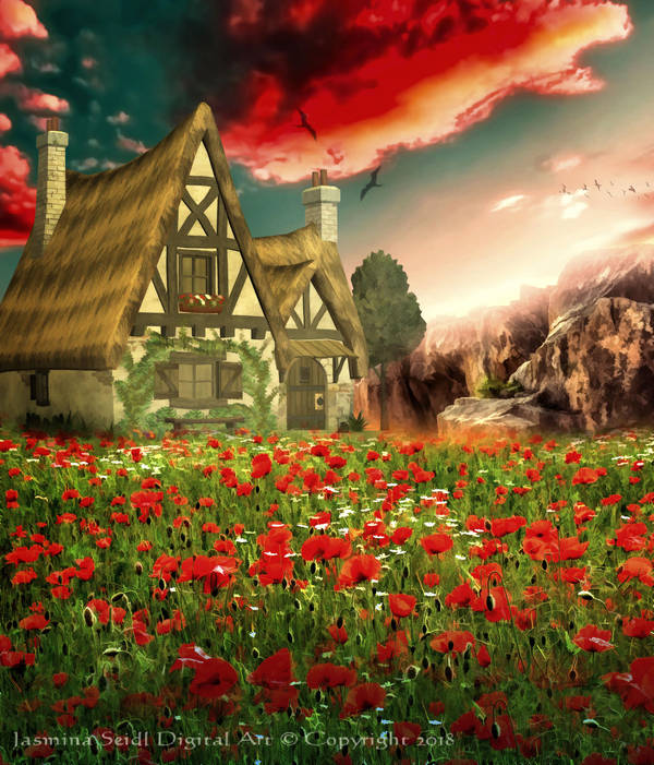 Lonely Cottage by JassysART
