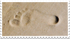 Footprints In Sand Stamp 003 by JassysART