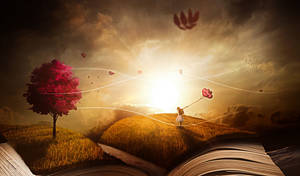 Magic Book Wallpaper by JassysART