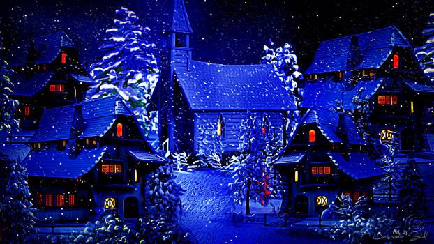 Winter Village by JassysART