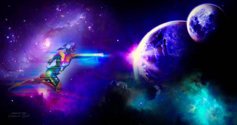 Space Girl - Wallpaper by JassysART