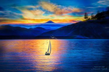 Sailing - Wallpaper by JassysART