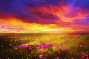 Peaceful Sunset by JassysART