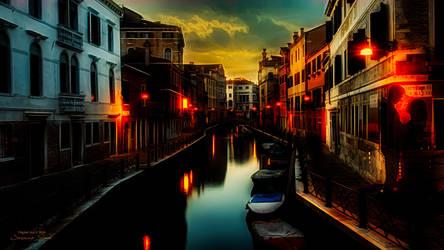 Venice by Night - Wallpaper by JassysART
