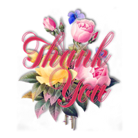 Thank You with pink Flowers002 by JassysART
