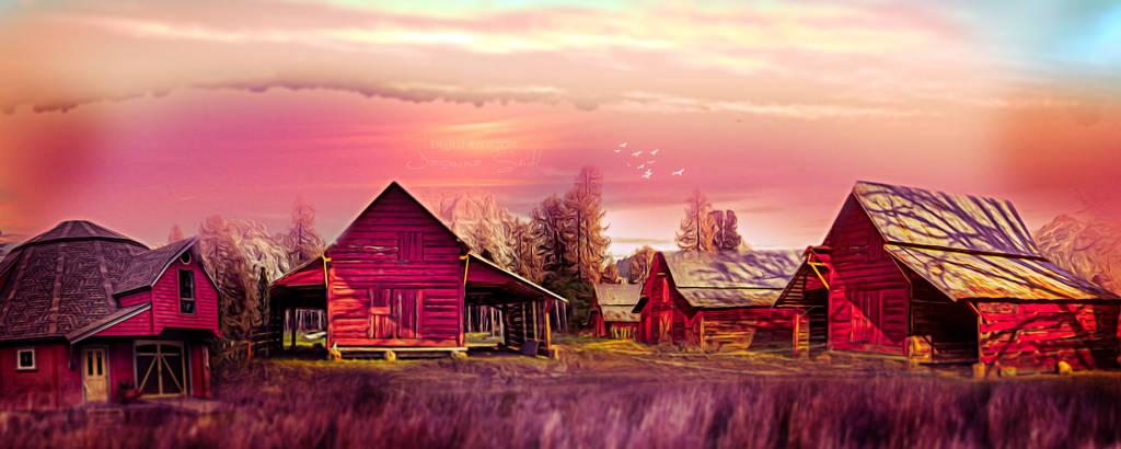 Village Panorama by JassysART