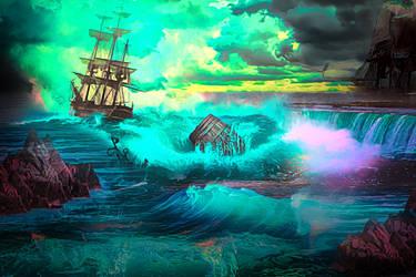 Sailing Far Away by JassysART