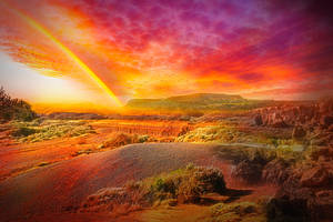Rainbow Wallpaper by JassysART