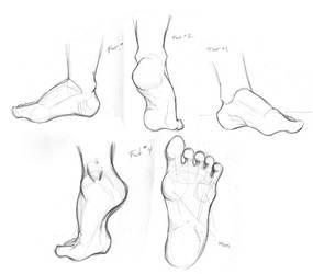 Foot Study by TwilightsDon