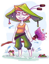 Frog Witch by Paper-Star-Zombie