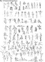 100 Poses by ChaosAngelus