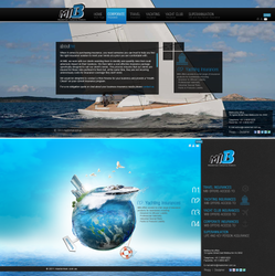 Yachting Insurances  website by REDFLOOD