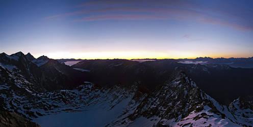 Schwarz Wand Sunrise 2 3105m by rembrandt83