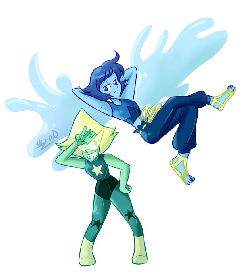 In their new forms www.instagram.com/kincello/ twitter.com/GentleAsLilies Peridot & Lapis Lazuli (c) Steven Universe/Rebecca Sugar Art (c) Gentle-As-A-Lily
