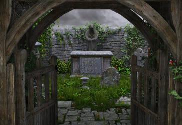 The Secret Graveyard by MerlinsArtwork