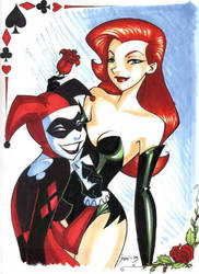 Harley and Ivy by persephohi