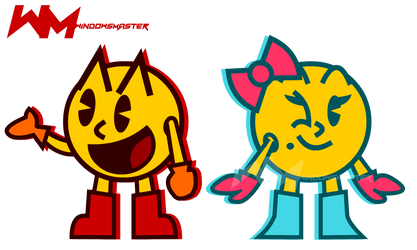 Mr. and Mrs. PAC-MAN! by WindowsTheHypocrite