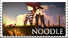 Gorillaz series - Noodle stamp by Morgwaine