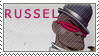 Gorillaz series - Russel stamp by Morgwaine