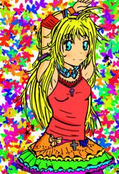 Rainbow Girl by TheFakePixie