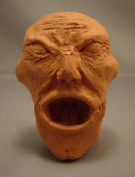 Human male face speedsculpt by CreatureSH