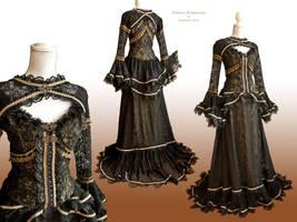 Dress Mariposa Olive, Somnia Romantica by M. Turin by SomniaRomantica