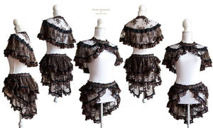 bustle and capelet lace, by Somnia Romantica by SomniaRomantica