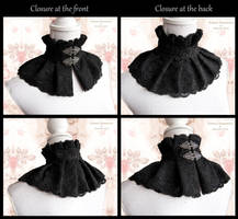 black lace choker collar, somnia romantica by SomniaRomantica