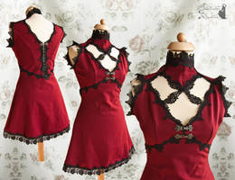 Deep red dress, Somnia Romantica by M. Turin by SomniaRomantica