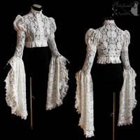 shrug victorian art nouveau lace romantic by SomniaRomantica