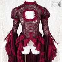 Burgundy waistcoat lace, somnia romantica by SomniaRomantica